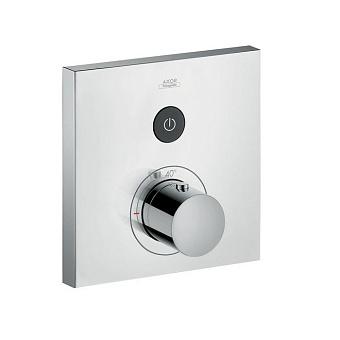 Axor ShowerSelect Термостатический смеситель с запорным клапаном, квадратный, цвет: хром