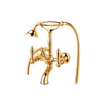 Nicolazzi El Capitan Смеситель для ванны на 2 отверстия, с ручным душем, цвет: золото