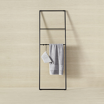 Burgbad Coco Стеллаж для полотенец 60x180 см, цвет черный