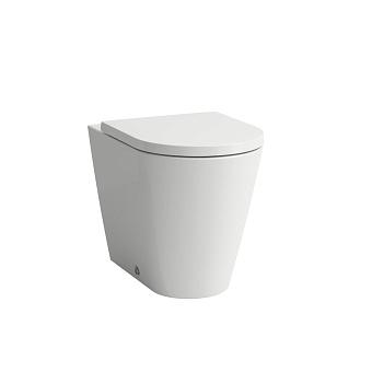 Laufen Kartell Унитаз приставной 56x37x43см, безободковый смыв Rimless, цвет: белый
