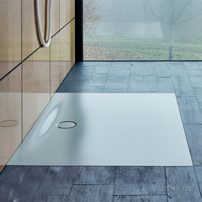 BETTE Floor Side Душевой поддон 100х100х6.5 см, квадратный, D90 мм, цвет: белый