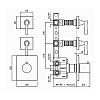 Zucchetti Bellagio Термостатический встроенный смеситель, с 2 запорными клапанами, цвет: хром