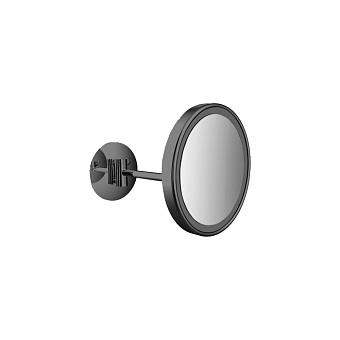 Emco Pure Косметическое зеркало, LED, Ø203mm, 1-колено, 3x увелич., подвесное, цвет: черный