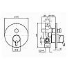 Zucchetti Simply beautiful Встроенный однорычажный смеситель для душа, цвет: хром
