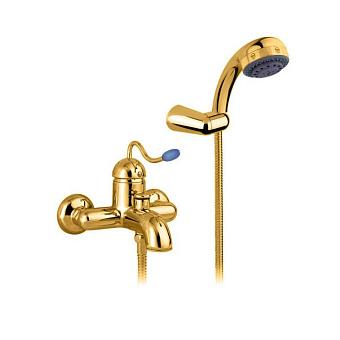 Nicolazzi Signal Смеситель для ванны, однорычажный, настенный, с душем, цвет: золото