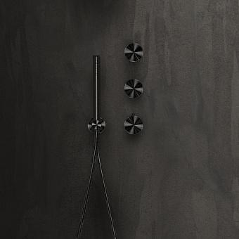 Falper Acquifero Смеситель для душа, 4 отв., настенный, цвет: черный матовый