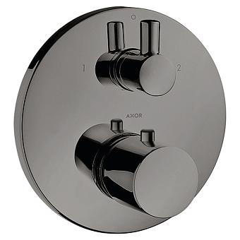 Axor Uno Смеситель для душа, встраиваемый, термостат , 2 потребителя, цвет: черный хром