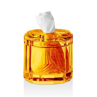 Decor Walther Kristall KB Диспенсер для салфеток 15x15см, хрустальное стекло, цвет: янтарь