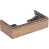 Geberit iCon Тумба с раковиной 89х24х47.7см, с 1 отв., подвесная, с одним выдвижным ящиком, цвет: натуральный дуб/меламин