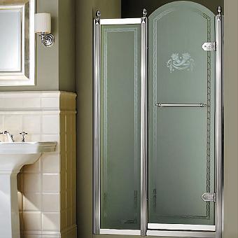 Devon&Devon Savoy Душевое ограждение K70 108-112 см, декоративные эл-ты, стекло с декором 2S+5S, цвет: хром