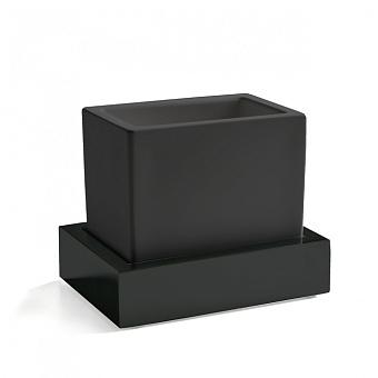 3SC SK Стакан настольный, композит Solid Surface, цвет: чёрный/черный матовый