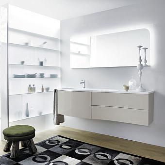 Burgbad Sinea 1.0 Комплект подвесной мебели 161x49x47.5 см, цвет светло-серый глянцевый